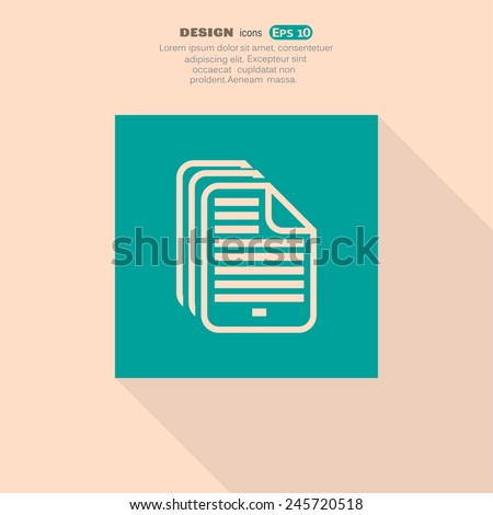 file, web icon. vector design - stock vector
