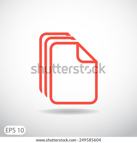 file, web icon. vector design