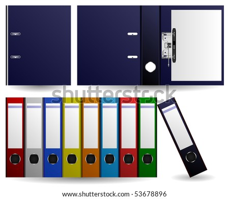 Files and Folders Vector - stock vector