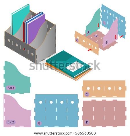 Files folders paper stack storage boxes isometric set DIY die-  sc 1 st  Shutterstock & Files Folders Paper Stack Storage Boxes Stock Vector 586560503 ...