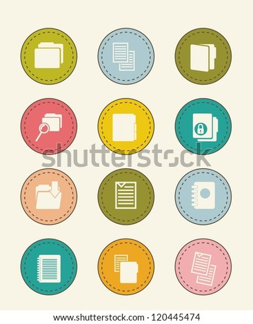 files icons over beige background. vector illustration - stock vector