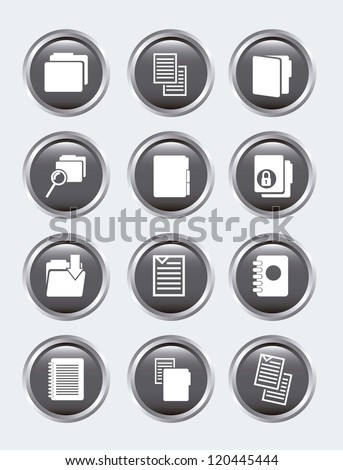 files icons over gray background. vector illustration - stock vector