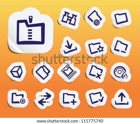 Files Items Icons - stock vector