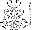 filigree design - stock vector