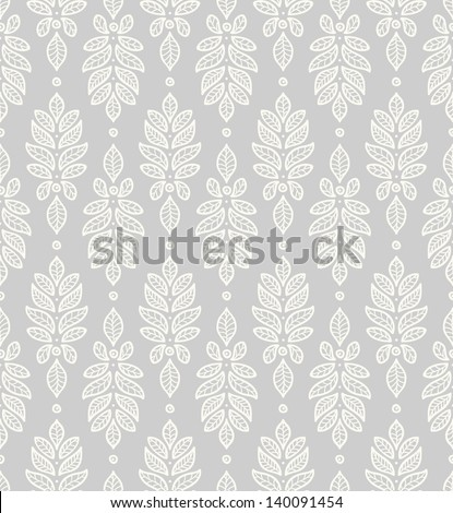 Filigree pattern with leaves. - stock vector