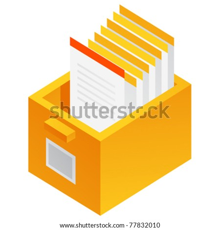 Filing Cabinet - Vector - stock vector