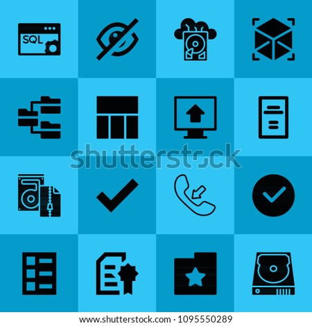 Filled Interface 16 Vector Icons Set Stock Vector 1095550289