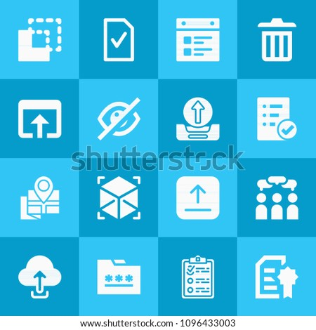 Filled Interface 16 Vector Icons Set Stock Vector 1096433003