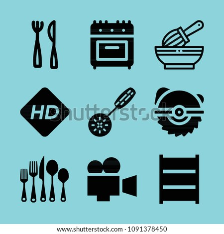 Filled Tools Icon Set Such Cutlery Stock Vector 1091378450