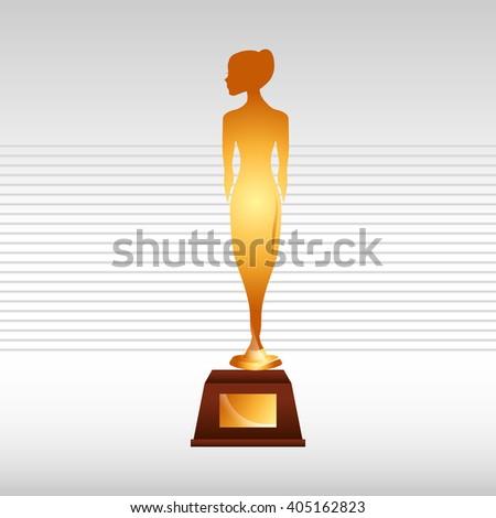 Film Award Design Stock Photo Vector Illustration