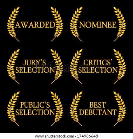 Film Awards and Nominations 2 - stock vector