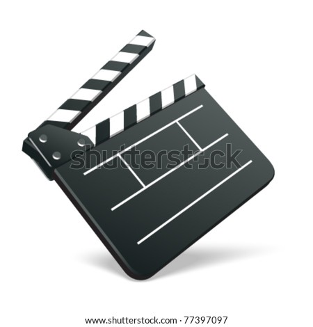 Film clap board cinema vector illustration. Eps 10. - stock vector