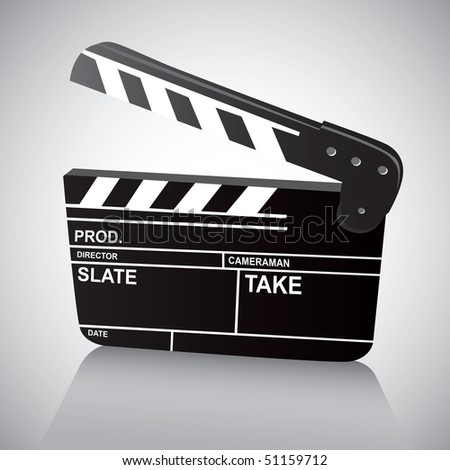 Film Clapboard (vector). In the gallery also available XXL jpeg version of this image. - stock vector