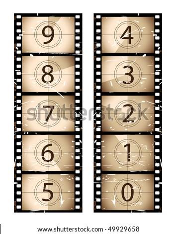 Film countdown - stock vector