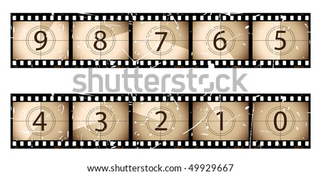 Film countdown - stock vector