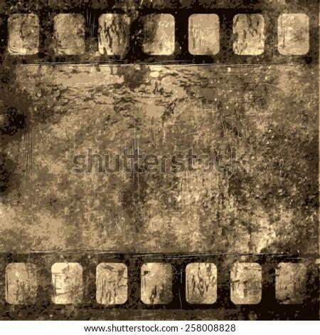 film frame as grunge background - stock vector