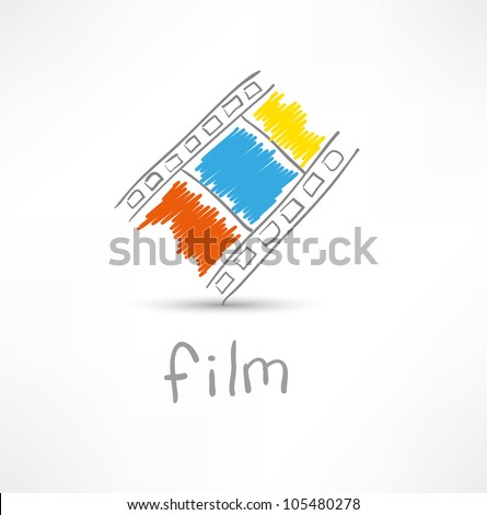 film icon - stock vector