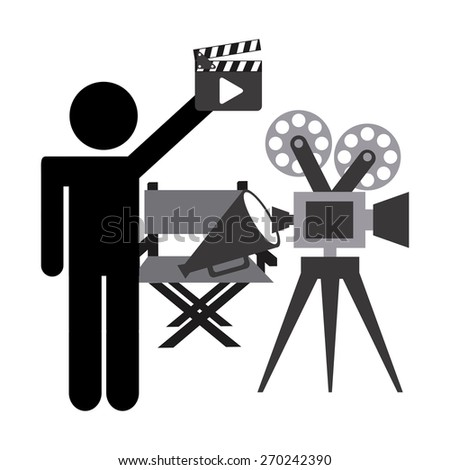 film icons design, vector illustration eps10 graphic  - stock vector