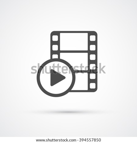 Film media play trendy icon. Vector illustration - stock vector