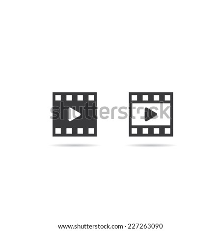 Film or Media Icons - stock vector