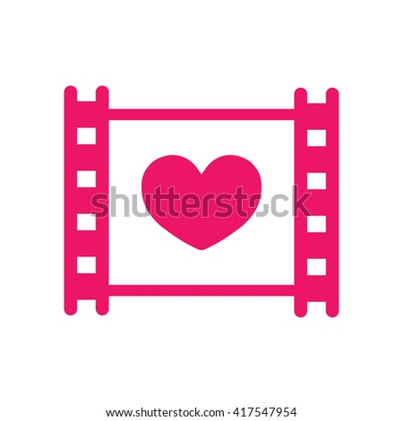 film photo video frame wedding love celebration icon  - stock vector