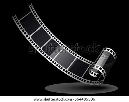 Film Reel Background Realistic Film Roll Stock Vector 564485506 ...