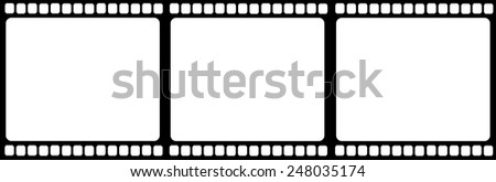 Film reel illustration isolated vector - stock vector