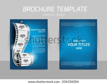 Film Reel On Blue Soft Background Stock Vector 206506006