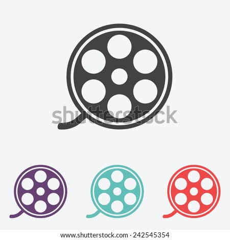film reel vector icon - stock vector