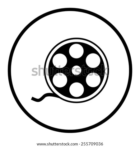 film reel vector icon stock vector 2018 255709036 shutterstock rh shutterstock com film reel vector background film reel vector black and white