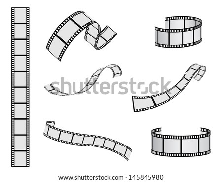 film reel vector set - stock vector