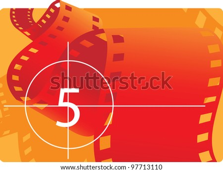 Film reel with countdown