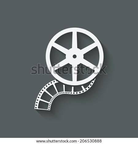 film roll design element - vector illustration. eps 10 - stock vector