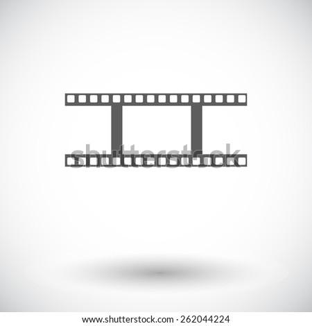Film. Single flat icon on white background. Vector illustration. - stock vector