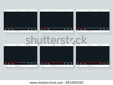 Film Storyboard Template Video 16 9 Stock Vector 2018 481600360