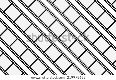 film strip abstract background design - stock vector