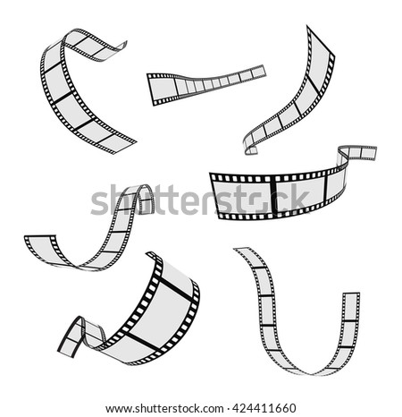film strip and film reel design set