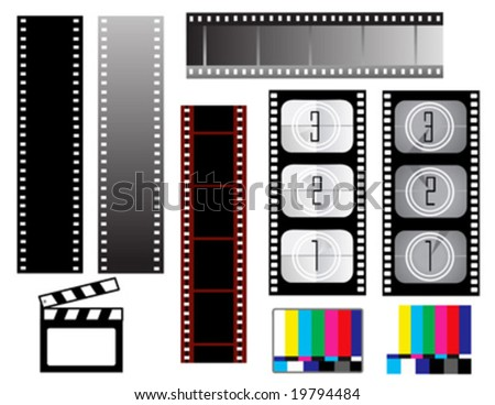Film strip backgrounds - stock vector