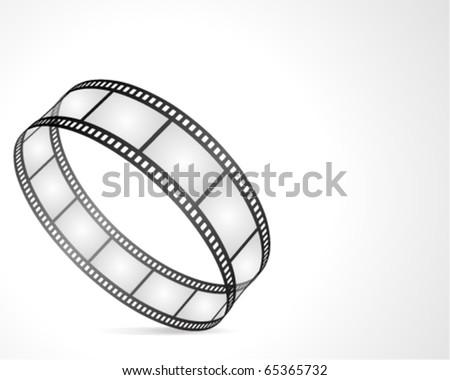 Film strip circle vector background - stock vector