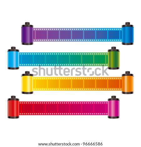 film strip color vector - stock vector
