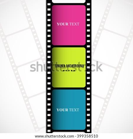 Film strip creative design. Vector art. - stock vector