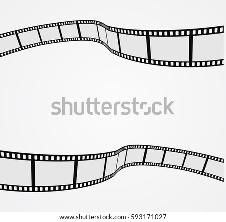 film strip 3d abstract background