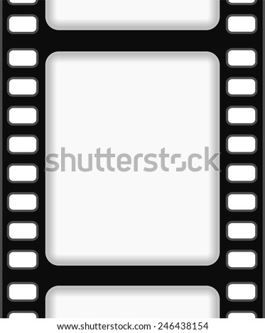 film strip frame background abstract design - stock vector