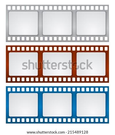 film strip frame design background - stock vector