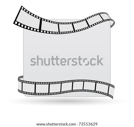 film strip greeting card - stock vector