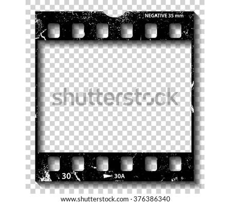 Film strip illustration, vector - stock vector