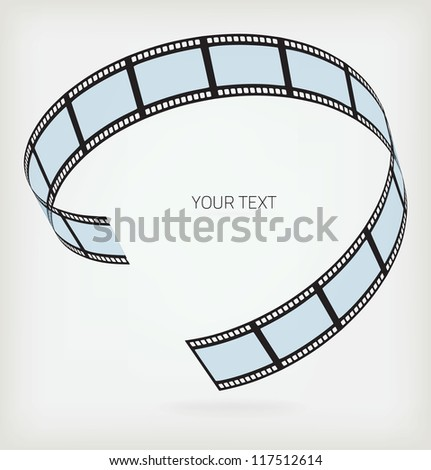 Film strip on a white background - stock vector