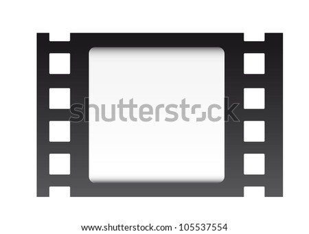 film strip over white background. vector illustration - stock vector