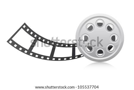 film strip over white background. vector illustration - stock vector