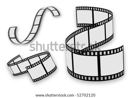 film strip set - stock vector